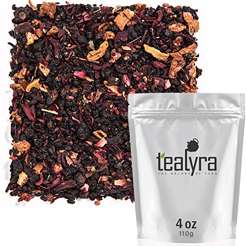 Tealyra - Grandma's Garden - Berry and Fruit Tea - Pure Herbal Tea - Loose Leaf Tea - Caffeine Free - Hot & Ice Tea - All Natural - 110g
