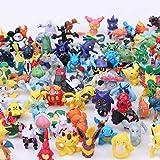 POKEEPET 144 Pcs Mini Action Figures PET Set Poke Heroes Action Figure Toy mon...