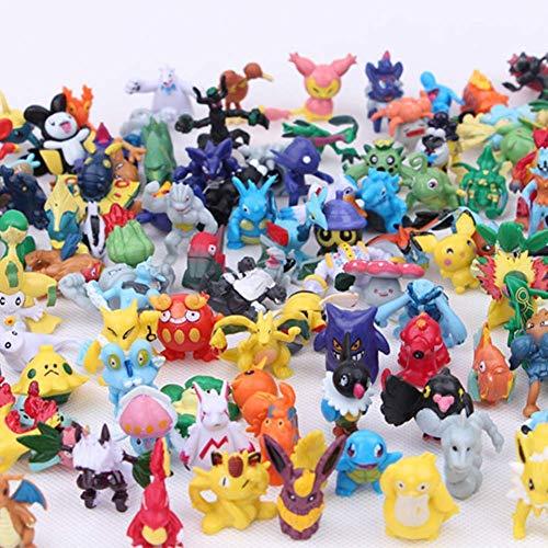 POKEEPET 144 Pcs Mini Action Figures PET Set Heroes Action Figure Toy 2-3 cm Crazy pet Big Collection