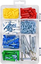 HangDone Wall Anchors Assortment 250-Pieces, Assorted Sizes with Screws