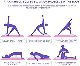 EVA Yoga Block Brick Sports Exercise Gym Foam Workout Stretching Aid Body Shaping Health Training Fitness Brick Q