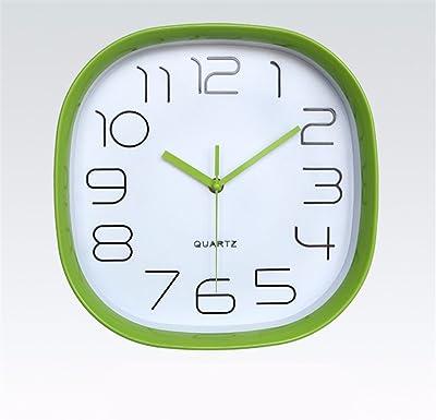 Imoerjia Stylish Wall Clock Quartz Clock Mute Bedroom (11 Inches, Green
