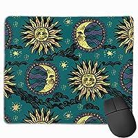 太陽と月 マウスパッド 25×30 大判 ノンスリップ 防水 ゲーミング おしゃれ マウスの精密度を上がる