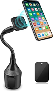 Car Cup Holder, Leagway Magnetic Cup Holder Phone Cradle Mount Compatible with Samsung Galaxy S9 S8 S7 S6 Edge S5 Note 7 8...