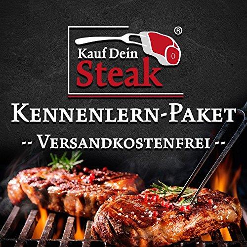 """Das """"Kauf Dein Steak"""" Kennenlern-Paket inkl. Rumpsteak (Dry-Aged), Porterhousesteak (Dry-Aged), Rib-Eye-Steak ohne Knochen (Dry-Aged), T-Bone-Steak (Dry-Aged)"""