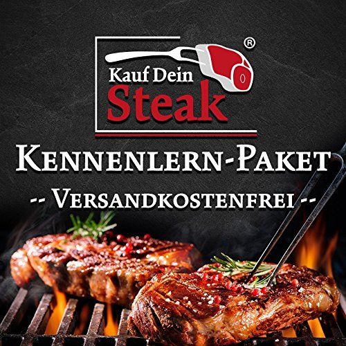 Das 'Kauf Dein Steak' Kennenlern-Paket inkl. Rumpsteak (Dry-Aged), Porterhousesteak (Dry-Aged),...