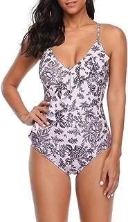 Sexy Women Floral Backless Frenum Polyester Fibre Bikini Beach