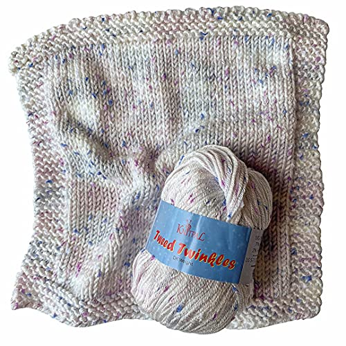 KnitPal Tweed Twinkles Baby Speckled Yarn for Knit and Crochet Blankets, 8...