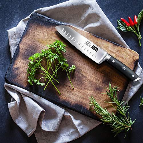 Cuchillo Santoku Japones, SHAN ZU Cuchillos de Cocina ...