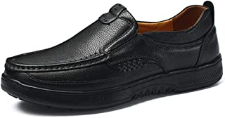 2019 Mens New Lace-up Flats Men's Fashion Oxford Shoes, Casual Comfortable Low Top Outsole in The Elderly Formal Shoes