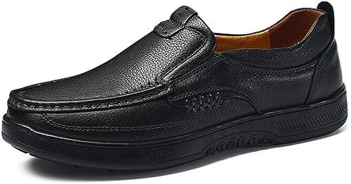 Easy Go Shopping Oxford Décontracté Décontracté Faible Top Semelle pour Hommes dans Les Chaussures de soirée,Chaussures de Cricket (Couleur   Noir, Taille   39 EU)