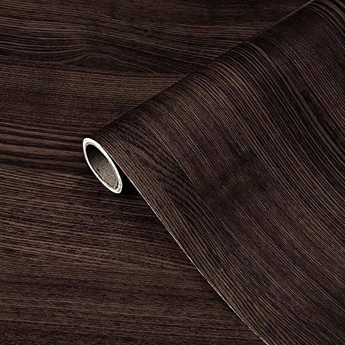 DMAXUN Addensare impermeabile Venatura del legno Carta da parati 40x300 cm Carta vinilica autoadesiva per Soggiorno Camera letto Pareti Controsoffitto
