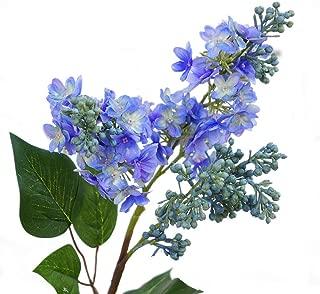 Zconmotarich 1Pc Artificial Lilac Fake Flower Garden Wedding Bouquet Party Home Cafe Decor - Blue