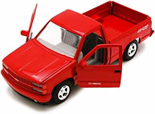 Motor Max 1992 Chevy 454SS Pick Up truck, Red 73203AC - 1/24 Scale Diecast Model Toy Car