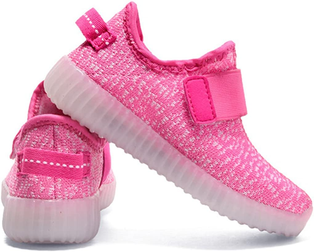 YX Kids Light Up LED Shoes USB Charging 7 Colors Flashing Luminous Fashion Slip-On Little Kid//Big Kid
