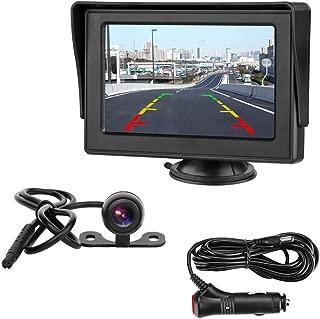 4.3インチLCDモニター バックカメラセット ケーブル一本配線 シガーソケット給電 取り付け超簡単 駐車支援システム 12V車用