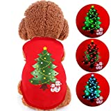 ONEISALL LED Light up Dog Sweater for Christmas Pet Dogs Shirts Costume Clothes for Holiday Festival Party XL
