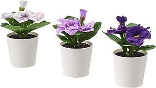 comprar comparacion Ikea FEJKA - Plantas de escritorio artificiales en macetas, color morado, 6 cm, 3 unidades