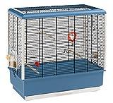 Ferplast Piano 4 - Jaula para pájaros exóticos, Color Azul