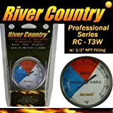 River Country 3' (RC-T3W) Adjustable Professional BBQ, Grill, Smoker Thermometer (50 to 550F)