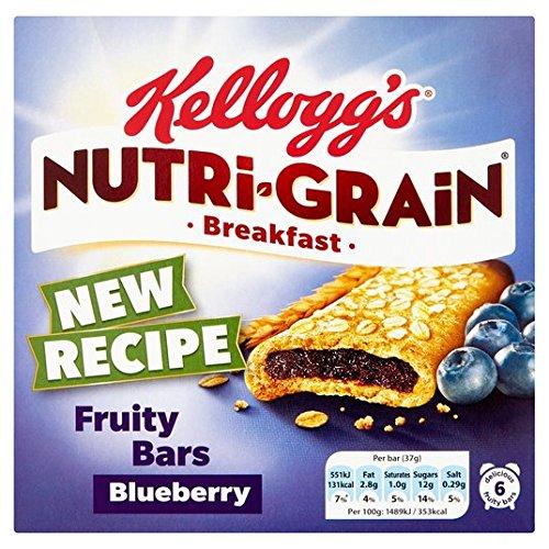 Kellogg's Nutrigrain Blueberry 6 x 37g