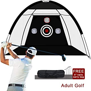 Sinolodo Golf Net Golfing at Home Swing Training Aids for Backyard Driving Range Chipping Net with Target Carry Bag Outdoor&Sports