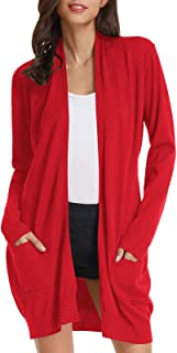 Women's Casual Open Front Cardigan Long Knitted Sweaters...