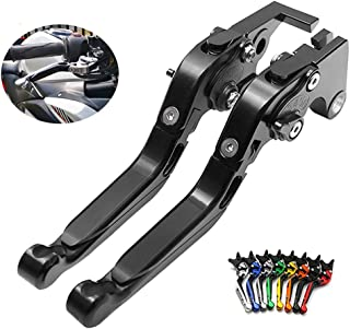 CYRDJ Palanca de Embrague, 1 par de Ajuste Plegable CNC Palancas de Embrague de Freno Corto Compatible para Triumph Speed Triple 1050 / S, Speed Triple R, Tiger 800 XC/XCX/XR/XRX,Black
