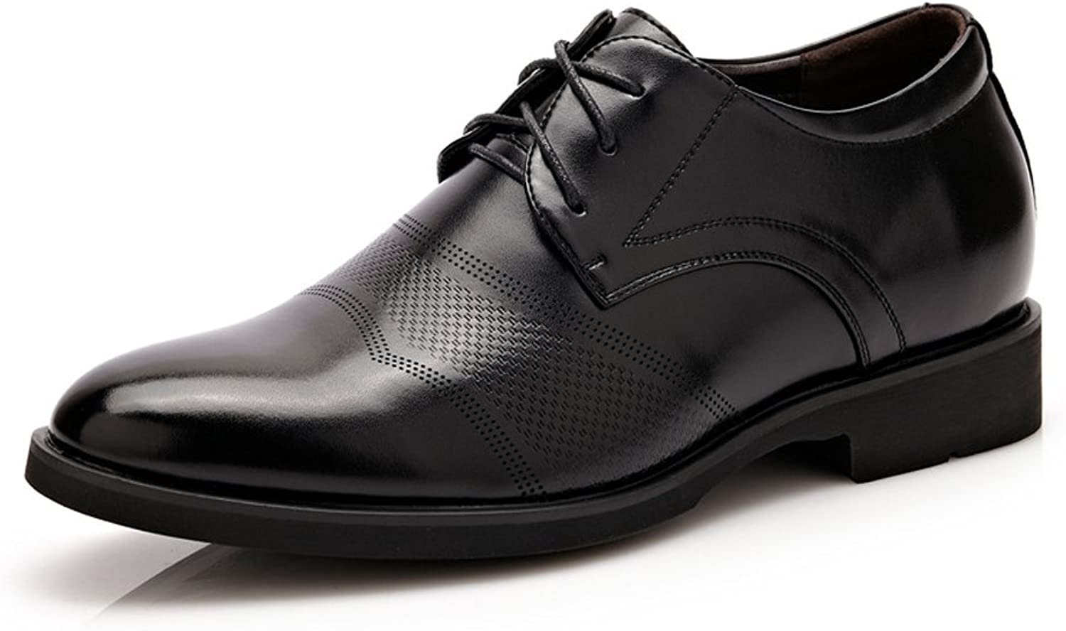 SCSY-Oxford shoes Classic Formal Men's Leather shoes Height Increasing 6cm Breathable Business Modern Shortwing Oxfords