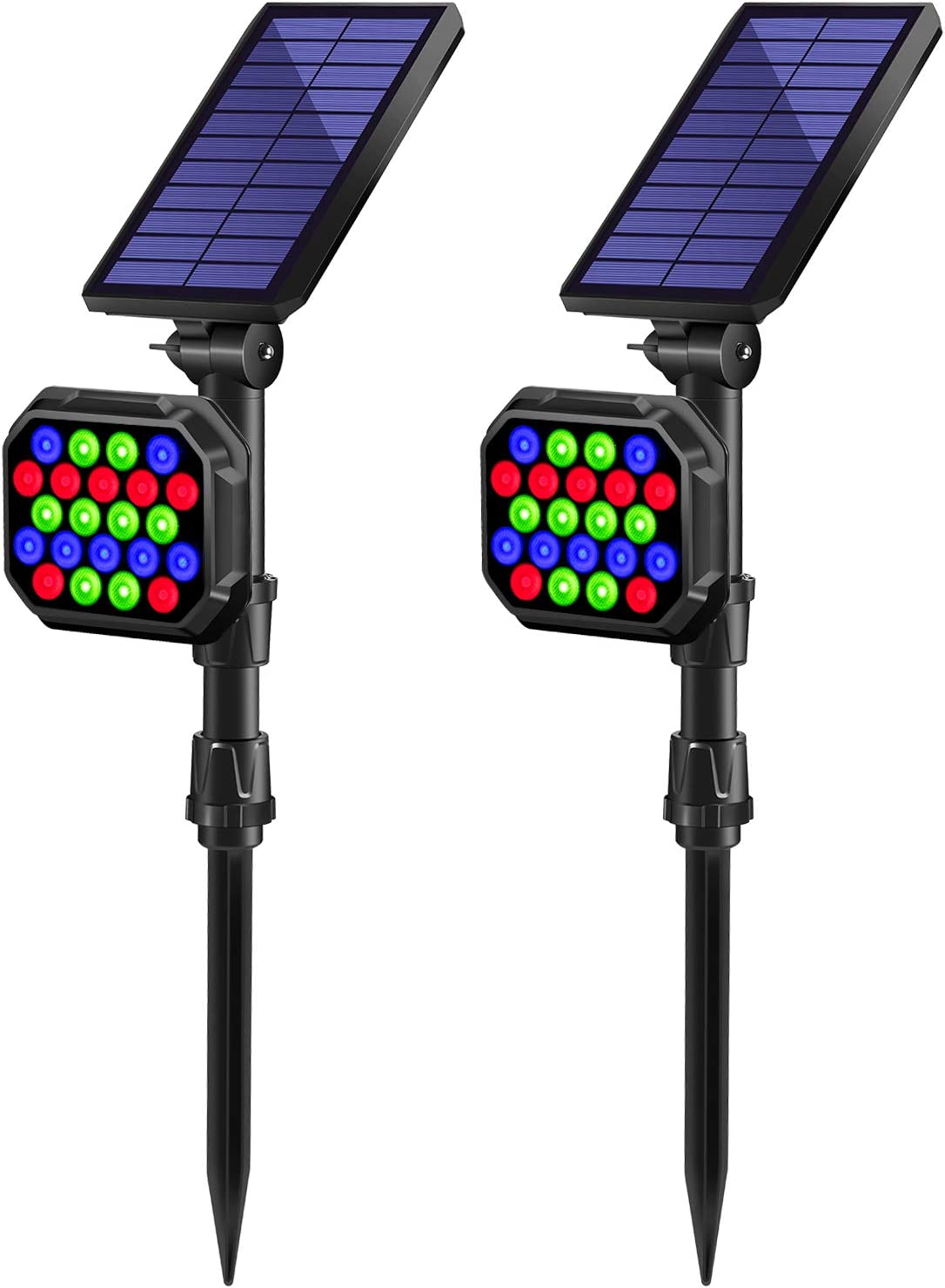 Solar Spot Lights Outdoor Cheap mail order shopping Ranking TOP6 MZVUL Color 22 LEDs Po Changing