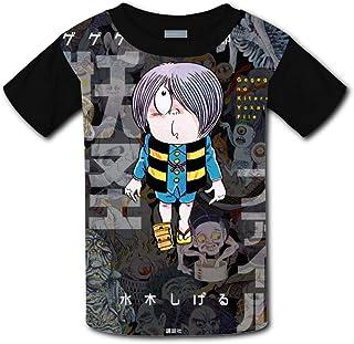 児童ファション 半袖 Tシャツ ゲゲゲの鬼太郎 妖怪 面白い図案デザイン 夏のプレゼント