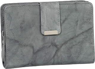 RFID Damen Leder Geldbörse Damen Portemonnaie Damen Geldbeutel - Farbe Grau - Geschenkset + exklusiven Ledershop24 Schlüss...