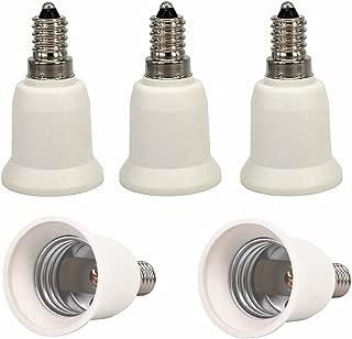 5pcs E14 to E27 E26 Lamp Bulb Base Socket Lamp Holder Converter Adapter for Lamp Converter, LED Lamp Socket Adapter