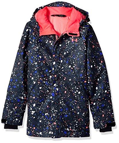 Under Armour Storm Powerline Insulated Jacket, Black (002)/Penta Pink, Youth Medium