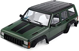 INJORA Olive Green Painted Hard Plastic 313mm Wheelbase Cherokee Body Car Shell for 1/10 RC Crawler Axial SCX10 & SCX10 II 90046 90047