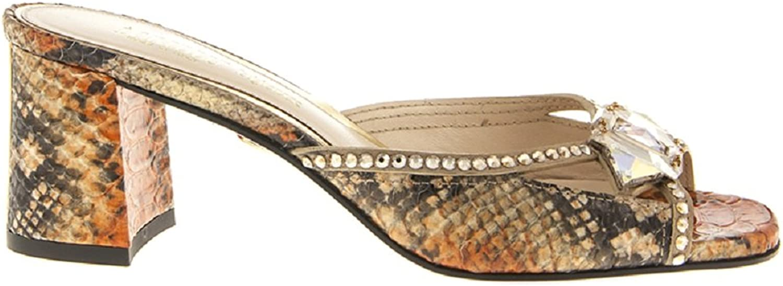 Loriblue 6039 Piton Leather Swarovski Italian Sandals