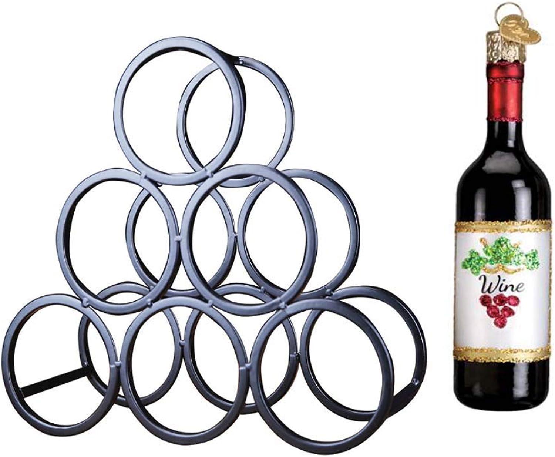 autorización Stackable Chrome Wine Rack, Wine Holder Estante De Vino Vino Vino Metal Sculpture Crafts Decoraciones Para El Hogar Interior Decorations-with Storage 6 Large Wine Bottle  Disfruta de un 50% de descuento.