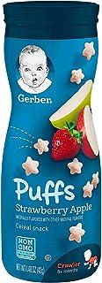 Gerber GRADUATES, Baby Food, Puffs, Strawberry Apple, 42g