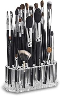 GKanMore Acrylic Makeup Brush Holder Organizer 26 Slots Clear Cosmetic Storage Stand Case Container for Makeup Brush