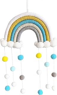 Scucs Suspension arc-en-ciel tissée à la main - Nuage arc-en-ciel tressé à la main - Accessoire de décoration pour chambre...