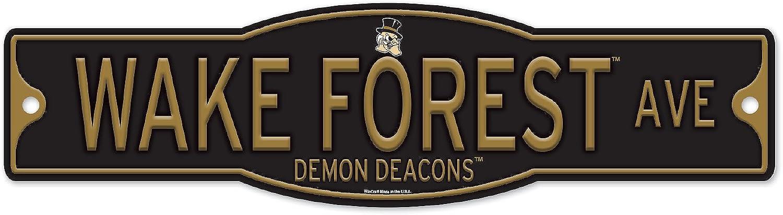 Wake Forest Demon Deacons 4  x 17  Plastic Street Sign NCAA