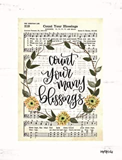 Count Your Many Blessings by Imperfect Dust Art Print, 12 x 16 inches