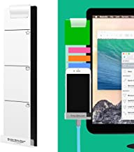 Monitor Memo Board Computer - Monitor Sticky Note Holder - Phone Message Memo Pad Charge Cable - Clip Transparent Message Creative Multifunction Paper Sticky Notes Boards for Cabinets Shelves Left