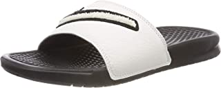 Benassi JDI Chenille Men's Slides Black/Summit White ao2805-001 (10 M US)