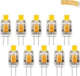LXcom G4 Bulb Bi-Pin Base 1w 12v Led Light Bulb 10W Halogen Replacement Warm White 3000k,10 Pack