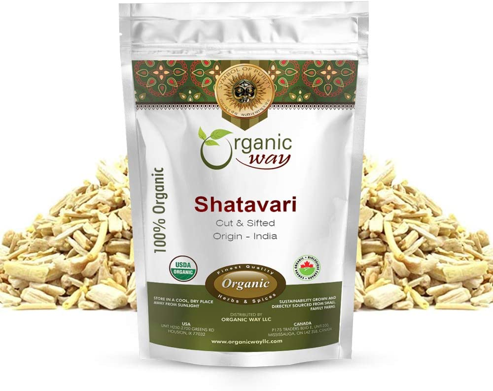 Organic Way Dried Shatavari Cut Opening large release sale racemosus - Asparagus Special Campaign Sifted
