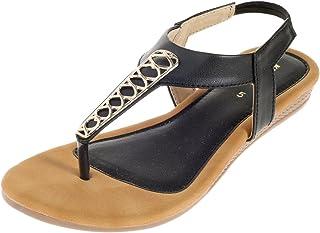 Khadim's PVC Sole Clip/Charm Flats for Women