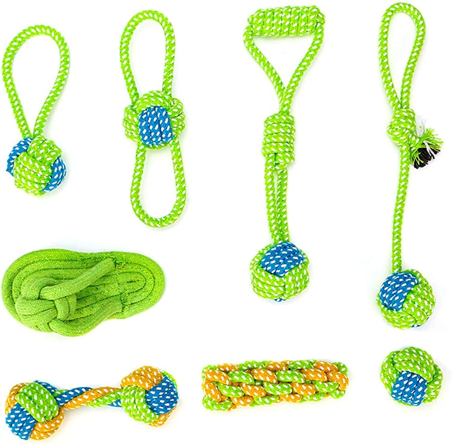 Dog Rope Toys NonToxic Material Vibrant colors Attractive Interactive Chew Knot Toys for Small Medium Large Dogs
