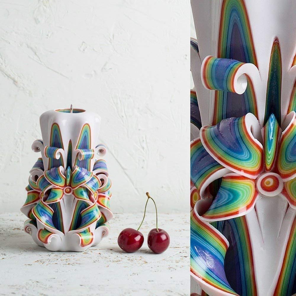 Decorative Candles Quantity limited for Living free shipping Room - Rainbow Hand Carved Mothers