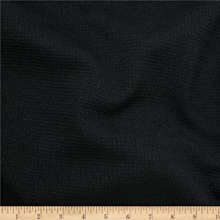 TELIO Black Paola Pique Knit Fabric by The Yard